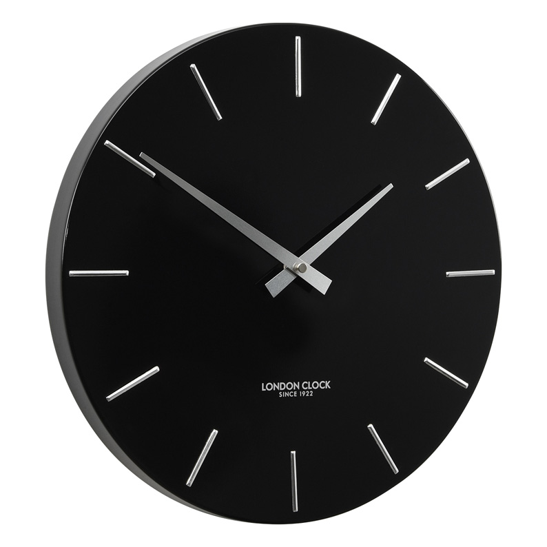 Stylish Black And Silver Marker Metal Wall Clock