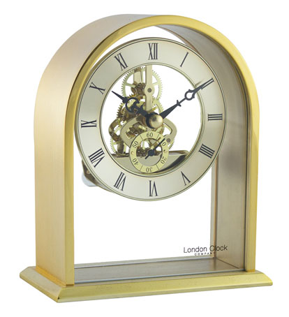Contemporary Mantle Clock With Skeleton Movement