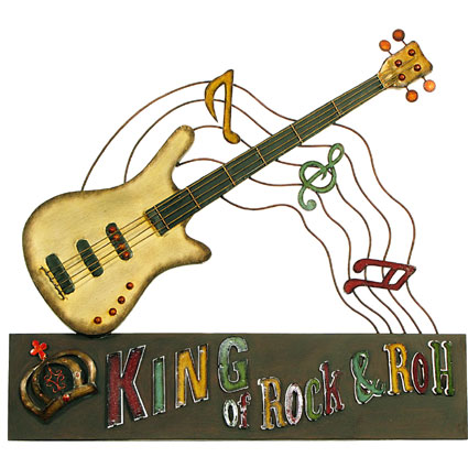 CONTEMPORARY \'KING OF ROCK n ROLL\' METAL WALL ART