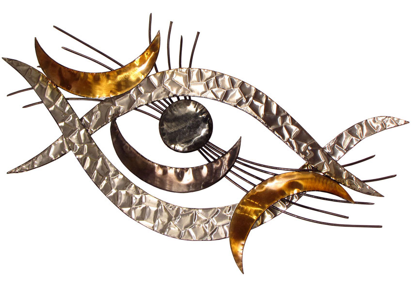 ... CONTEMPORARY U0027CURVATUREu0027 METAL WALL ART ...