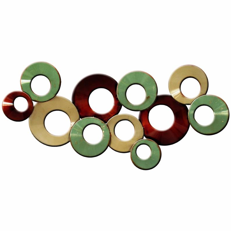 Flowing Circles Abstract Metal Wall Art