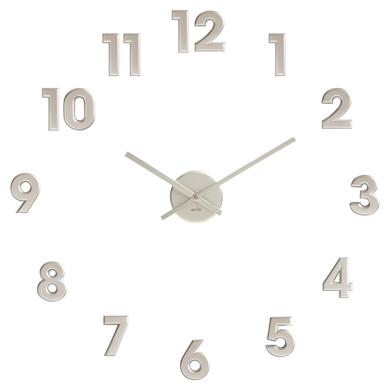 Stick On The Wall Clock In White