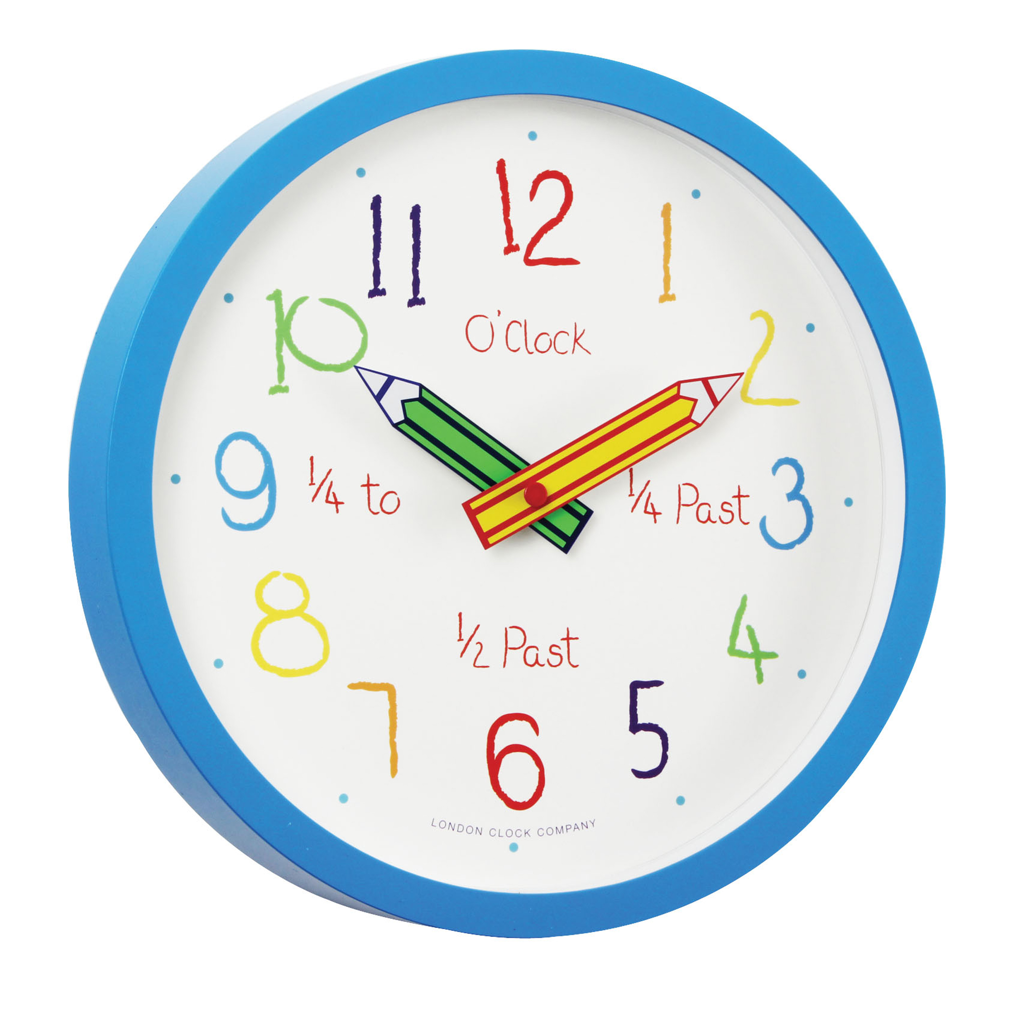 Boy39s pencil box wall clock for Wall clock images for kids