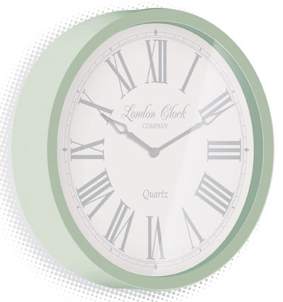 Traditional design wall clocks for Green wall clocks uk