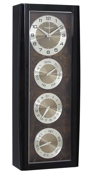 Wooden Calendar Wall Clock