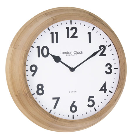 Solid Wood Traditional Design Wall Clock