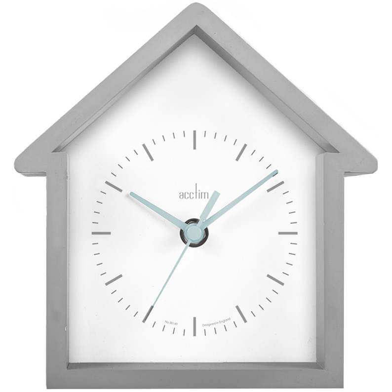 Adorable House Shaped Wall Clock In Grey