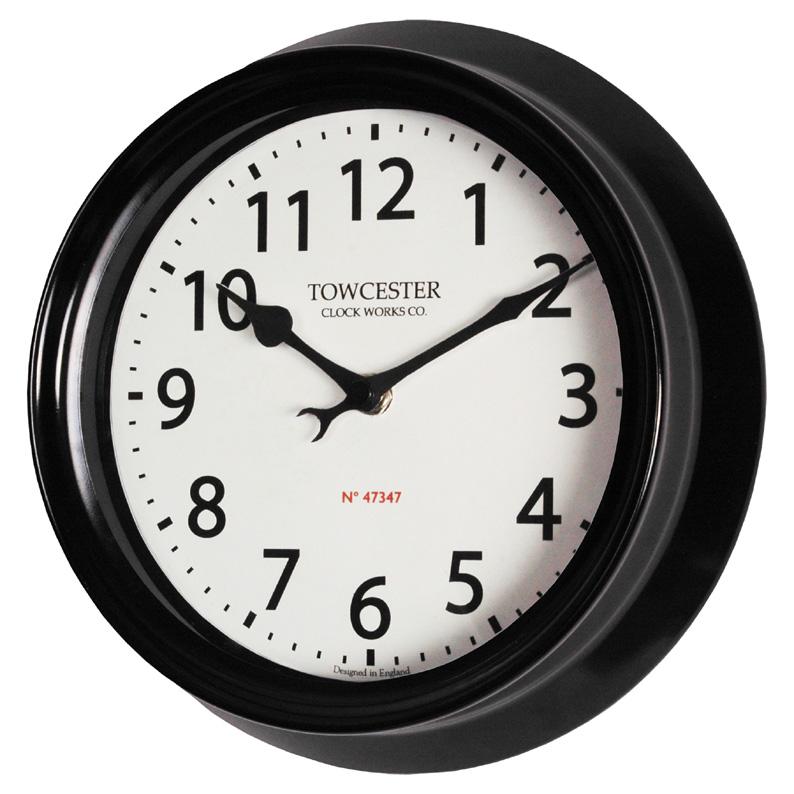 Indoor Outdoor Wall Clock In Black