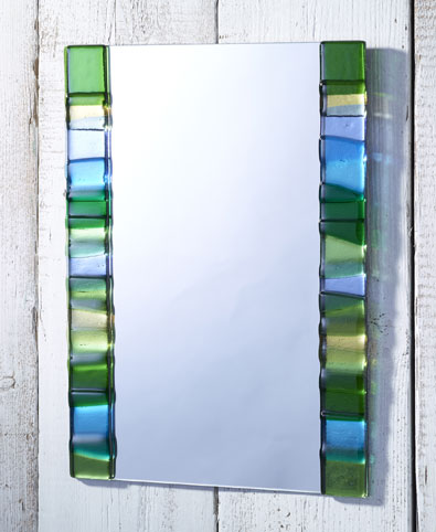 Spring Panels Fused Glass Mirror