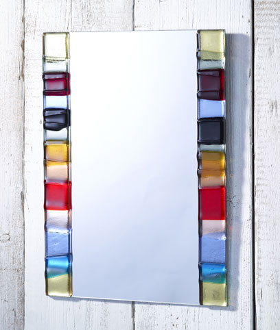 SUMMER PANELS FUSED GLASS MIRROR