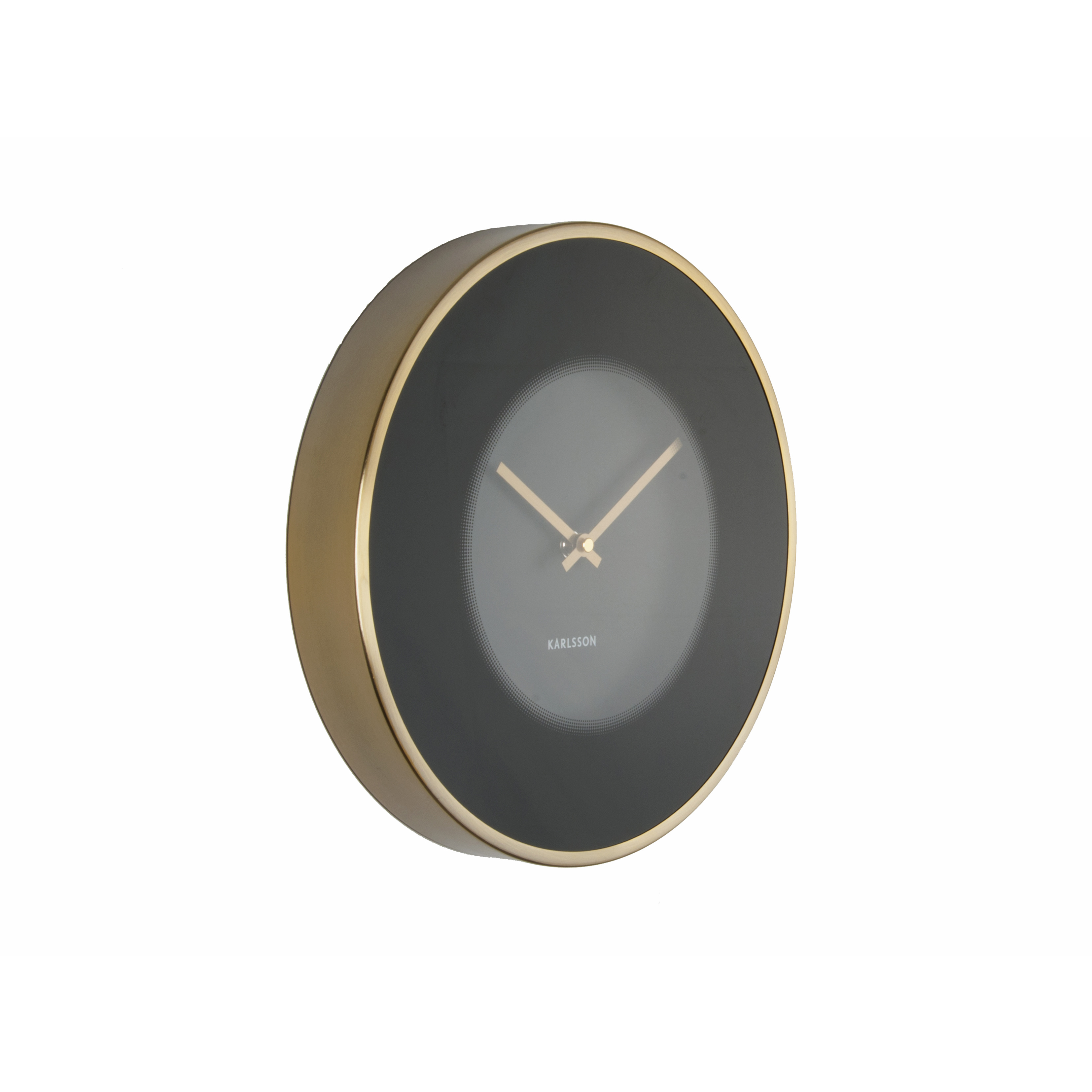 Modern Wall Clock In Black And Gold