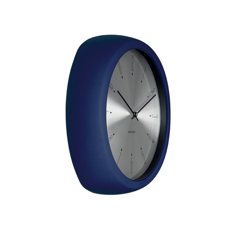 Fun Blue And Aluminium Wall Clock