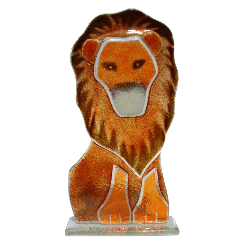 Scary Squeeze Stuffed Animals, Aslan The Lion In Fused Glass