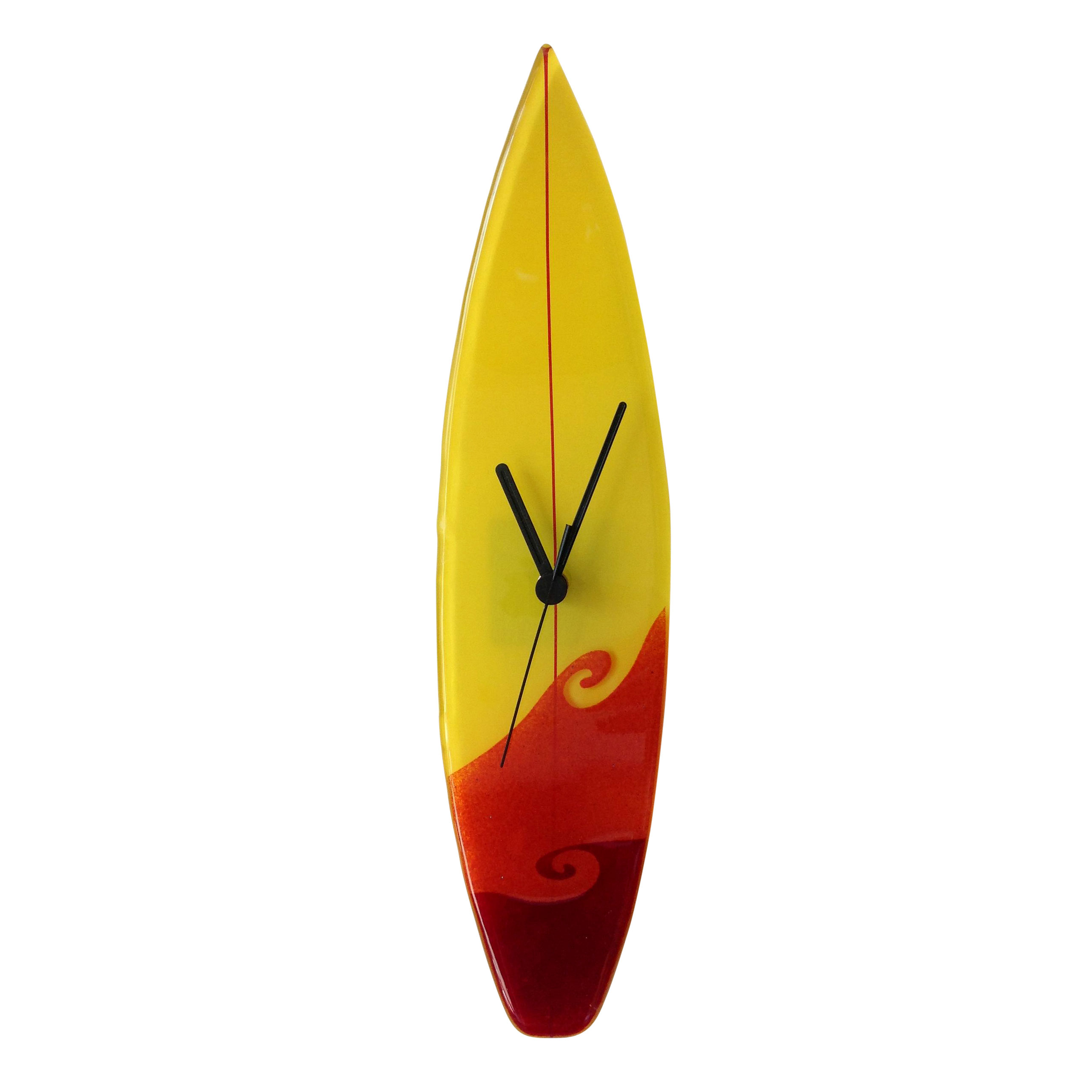 Surfer Dude Fused Glass Clocks by Berserks