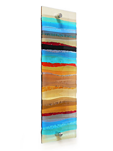 Fused Glass Wall Artwork Panel, Fused Glass Artwork Wall