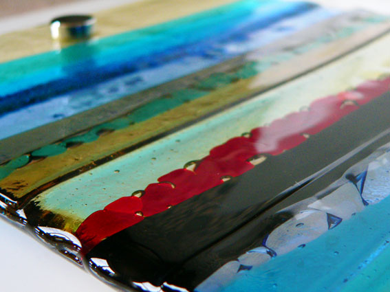 Fused Glass Wall Artwork Panel