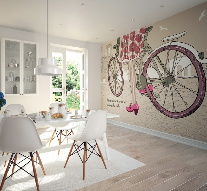 Enjoy The Ride Bicycle Wall Mural