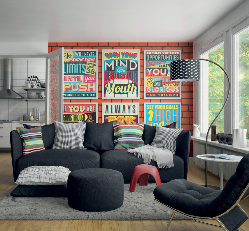 graphic print posters wall mural