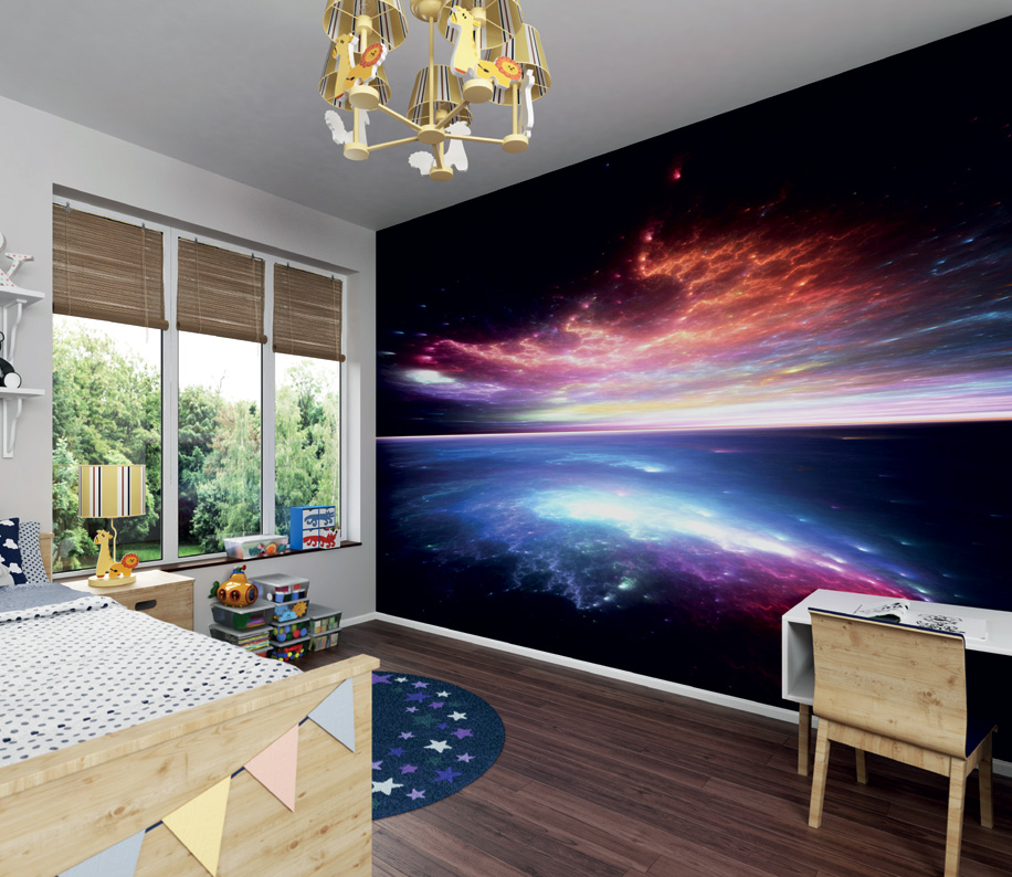 Electric Storm Wall Mural