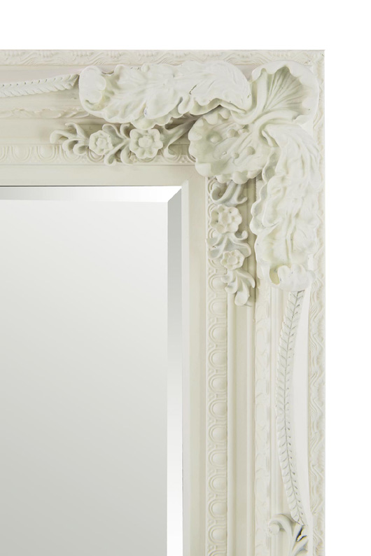 Funky Wall Lights >> XL ORNATE SHABBY CHIC STYLE FRAMED MIRROR IN CREAM - 215x154cm