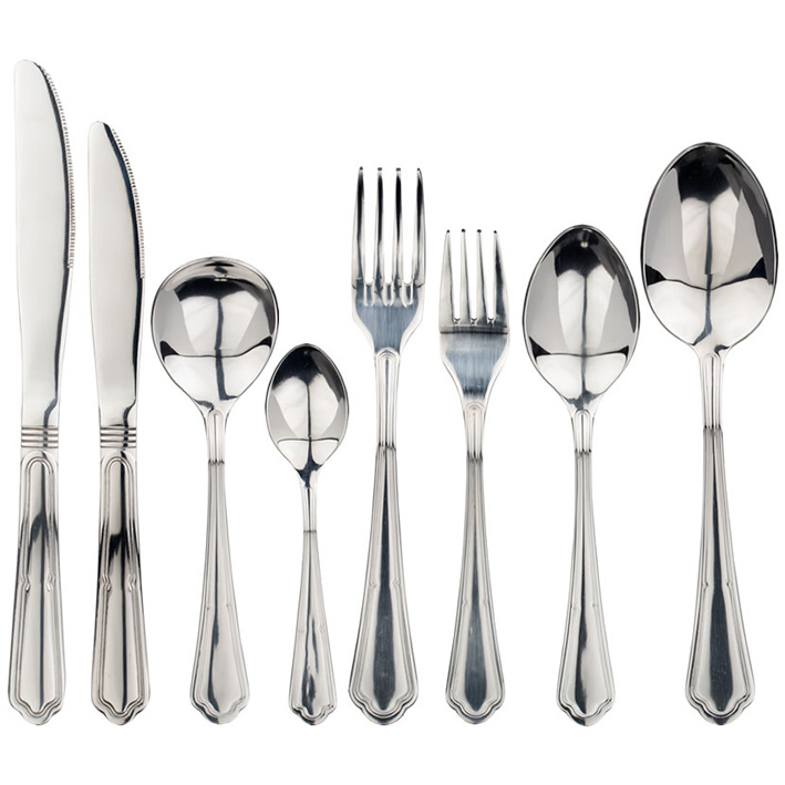 44 Piece Wooden Boxed Classic Cutlery Set
