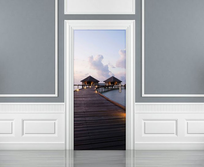 Charmant THE MALDIVES DREAM STATEMENT DOOR WALLPAPER MURAL