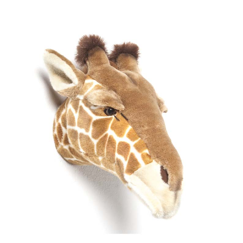 Soft Cuddly Giraffe Head Wall Mount