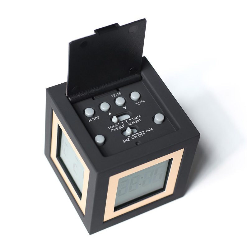 funky digital radio alarm clock funky design radios alarm clocks and speakers desk clock ebay. Black Bedroom Furniture Sets. Home Design Ideas