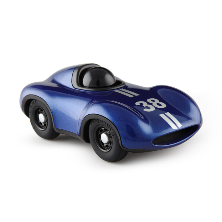 METALLIC BLUE RACING CAR FOR KIDS AND COLLECTORS